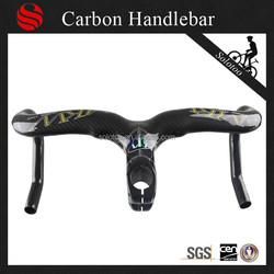 2015 New 3k Glossy /matt road bike carbon handlebar with stem integrated bicycle handlebars wholesale