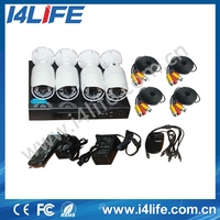 CCTV products H.264 4CH D1 DVR camera Kit, Outdoor Night Vision 720P Security Camera kit