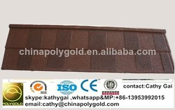2015 New cheap stone coated metal roof tile manufacture indonesia