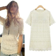 Walson Latest Vintage Style Girl Sexy Hollow Out Crochet Lace Women beauty Blouse Designs 004480