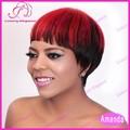 baratos fábrica de preços por atacado curto perucas de cabelo vermelho destaque natural perucas para venda