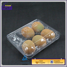 disposable plastic 5 packs of kiwi fruit container/Plastic PET Blister With Lid for Fruit Pack