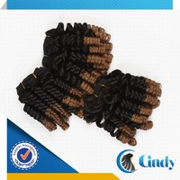 two tone ombre color loose spiral curl beautiful cheap indian 8-40inch human hair weaving