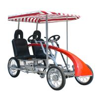 2-Bench 4 Person Surrey Pedal Car