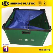 folding coroplast plastic boxes, coroplast recycle bin