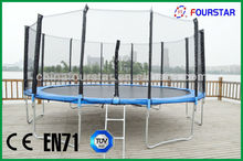 superb big round trampoline with enclosure and ladder,4.88M 16FT ,SX-FT(E)-16