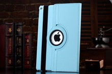 For iPad Air Smart Cover Case 360 Degree Rotating Leather Case Stand Flip for iPad 6 Air 2