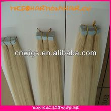 Hot Remy Double Sided Tape Hair Extensions/blond tape hair/brazilian tape hair