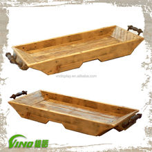 Metal Handles Rust Wooden Trays wooden tray with metal handle