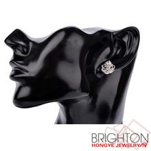 Rose Rhinestone Stud Earrings C01156