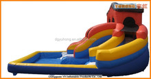 vinyl inflatable combo water park with slide manufacturer