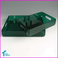 Customized Thick Lucite Acrylic Tray Barware Dress Barware Serving Tray