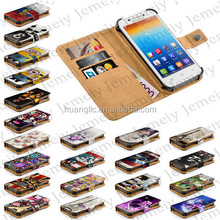 """For Lenovo S650 Case, Original 4.7"""" Universal Smartphone PU Leather Stand Wallet Flip Cover With Credit Card Slots"""