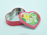 heart shape tin can