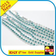 colored high quality rhinestone cup chain roll