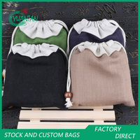 Double Layer Linen Power Bank Pouch Gift Bag