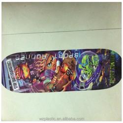 customized cartoon PP Lenticular 3D sliding plate/3D skateboard