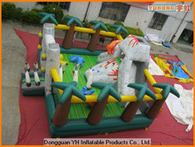 hot sale PVC inflated bouncer house with slide