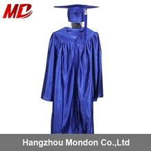 Custom Shiny Graduation Caps And Gowns For Children Blue
