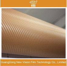 3m quality removable vinyl stickerauto decoration 3D carbon fiber car wrap film