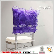 Top Quality Purple Chair Cover Wonderful Rosette Chair Cover