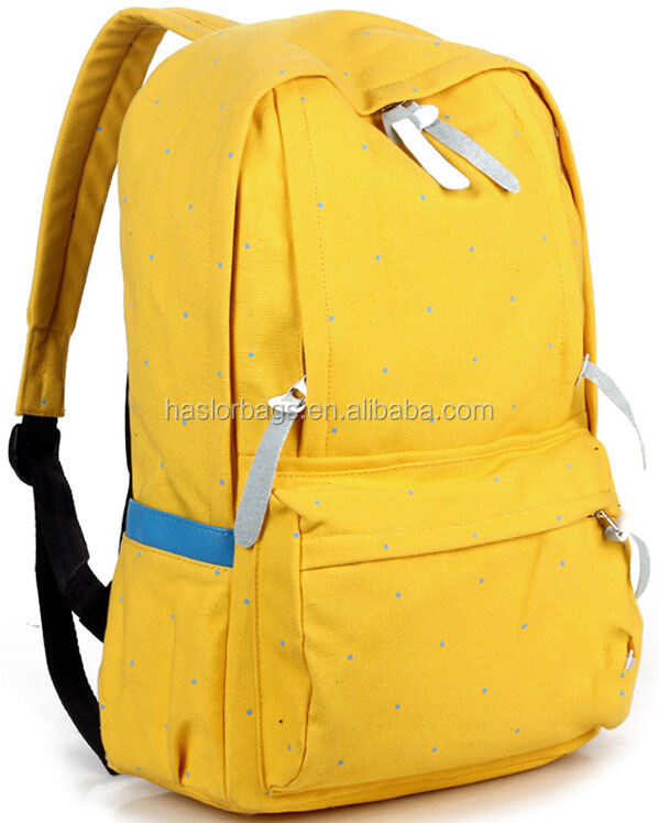Hot vente toile de coton sac à dos pour les adolescentes