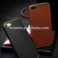 FL3108 2013 Guangzhou wholesale plate leather back cover case for iphone 5