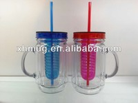Juice cup straw cup hot selling coffee Mug with handle