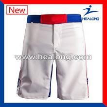 lycra spandex mma short designer ,mens withe mma shorts