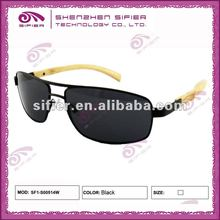 2015 Fashion Metal & Bamboo Combined Sunglasses For Men
