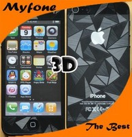 Factory price 3D screen protector with design cartoon logo for iphone 5/5c/5s