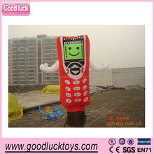 Inflatable Mobile Phone replicas /inflatable moving cartoon for advertising/Cellphone air costumes