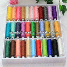 Polyester Sewing Thread Set 33 Rolls 400 Yards Mixed Colors Small Spool For Quilting and DIY Made in China