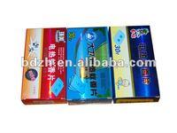 China best price printed packaging laser film paper box