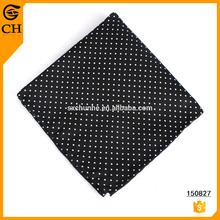 Fashion Polyester High Quality dot black handkerchief