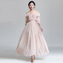 Wholesale OEM Bulk Cheap Factory Apparel Garment 001 # 2015 spring and summer small fresh spell color strapless flounced dress b