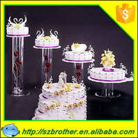 2015 China nline store sale acrylic tube cake stand in the long term