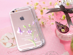 100% New Ordinary Love Series IMD Intramode Soft TPU Case with diamond for iPhone 6S/6S Plus