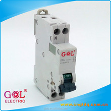 C60 25A C curve 1P+N DPN mini circuit breaker