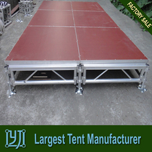 (1.22x2.44m/1.22x1.22m) aluminum frame plywood stage for sale