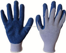 latex coated cotton glove/industrial 10 gauge polyester cotton latex coate