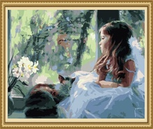 40*50cm kids canvas painting set, oil painting by number