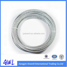 Good quality Galvanized Steel Wire Rope, 1x19 Strand core
