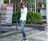 OEM women's high quality 100% cotton long sleeve tshirt