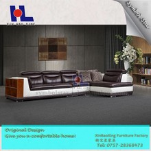 2212 Cheap modern living room danish leather corner sofa