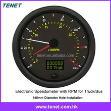 2015 140mm electronic odometer bus truck, electronic speedometer odometer Canbus speedometer for bus