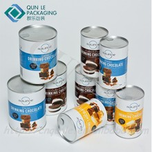 Hot Sale Custom Printed Coffee tin can Empty Coffee tin Cardboard Paper Coffee Cans