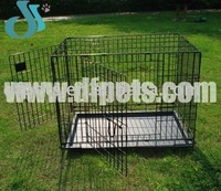 Folding Pet Dog Cages With 2 Doors
