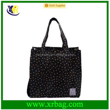 China factory provide star print waterproof tote nylon bag for shopping