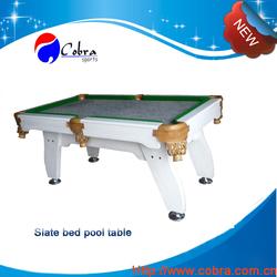 KBL-0904 solid Wood Billiard Table,Slate Playfield Pool Table,